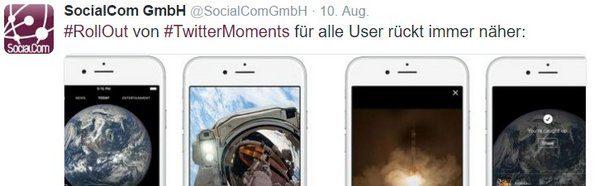 TwitterMoments für alle User rückt immer näher!